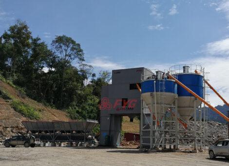 Modular concrete mixing plant - HZS90D