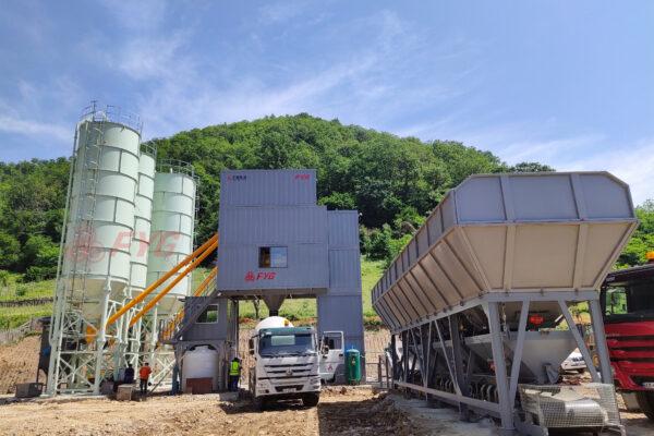 Modular concrete mixing plant - HZS120D