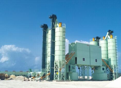 FYG modular concrete mixing plant - Dual HZS120 Maldives